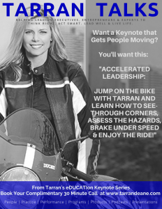 "Keynote ""Accelerated Leadership"" by Tarran Deane _ eDUCATIon Speaking Topics by www.tarrandeane.com"