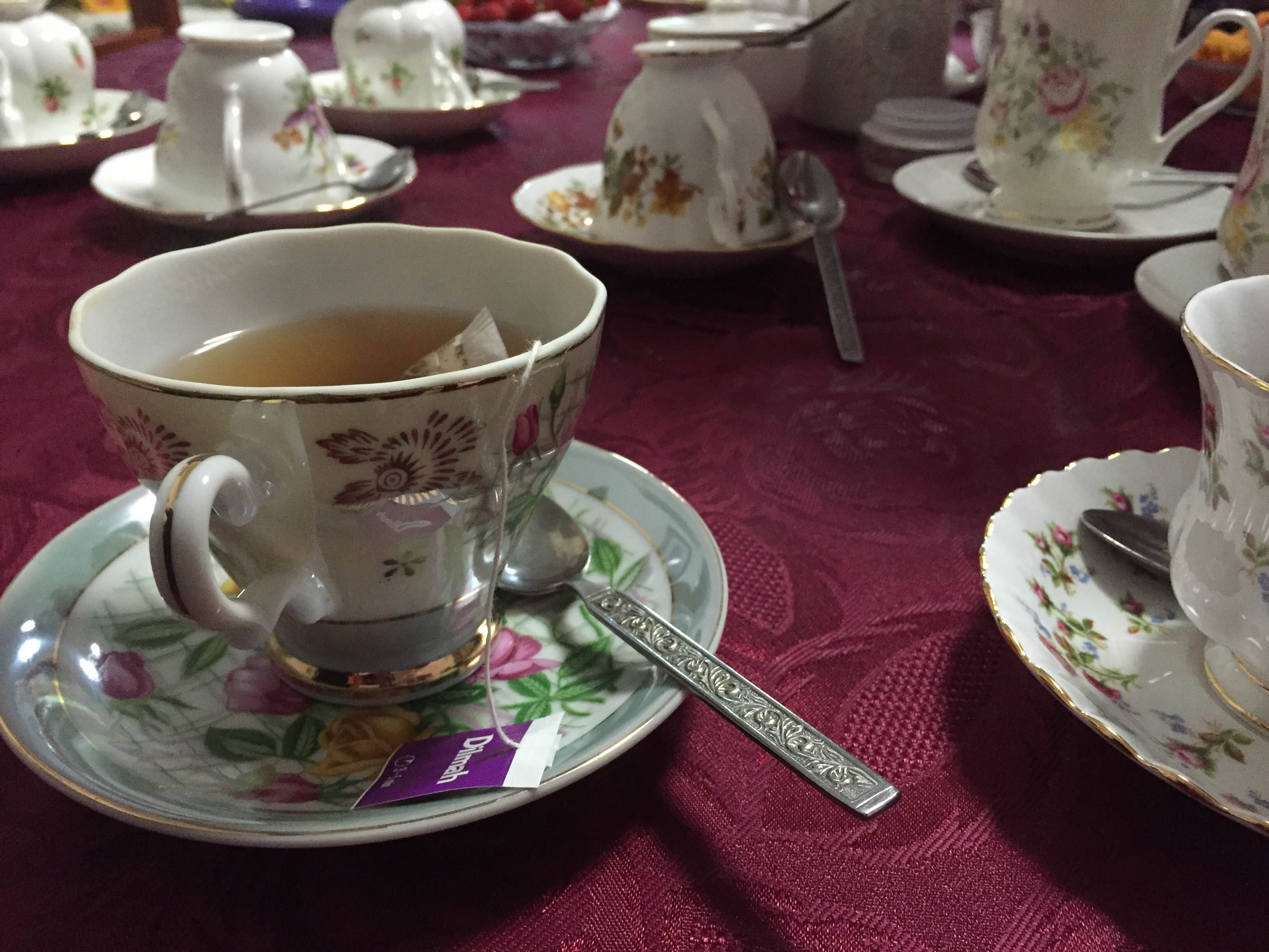 Great Aunt Marcia's china cups are catalyst for conversation and warm memories...