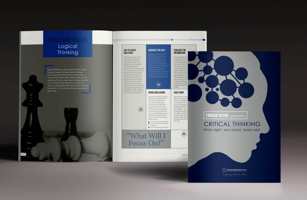 Decision Fatigue? Rising allegations of bullying/ Too much going on? Professional Development that delivers results for executives, experts, managers, leaders & teams through Tarran Deane Education. Contact us on +61 (0)417 654305 or visit www.tarrandeane.com/criticalthinking - Module