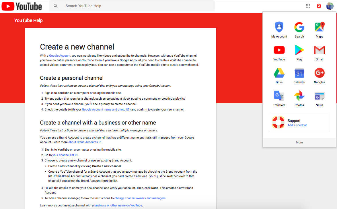 How to set up a Youtube Channel using a Google Login. See how I'm logged into my Google Account? Then simply click on the red Yotube icon to begin by Tarran Deane #online #leadership