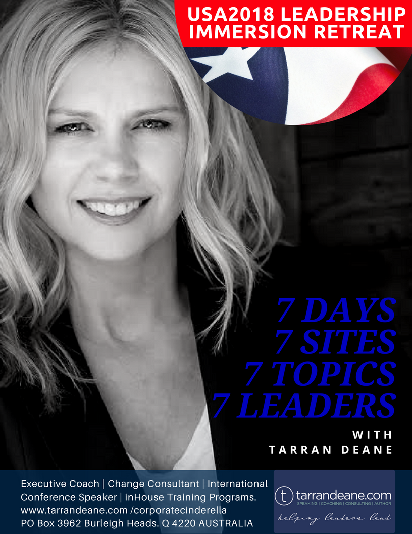 #TarranTour - Tarran Deane Leadership Speaker | Change Consultant | Developing the Communication, Connection & Capability of Tomorrows Leaders Today - www.tarrandeane.com USA Leadership Retreat July 2018