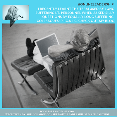 Manage Your Online Reputation -ONLINE Leadership with TarranDeane.com - Man in Chair with Computer_opt